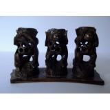 Trio de Macacos ( N / Fala, N / Ouve e N / Vê